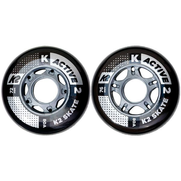 K2 ウィール ACTIVE WHEEL 80A 72mm/76mm 一個